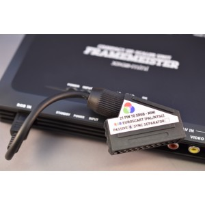EuroSCART to Framemeister XRGB mini passive adapter cable